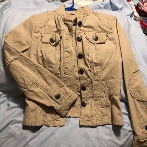 Beige marching jacket